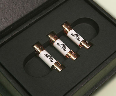 Amr Audio Grade Gold Plated Fuses | Pack Of 3 Fuses | For Uk Mains Plug | 13 Amp