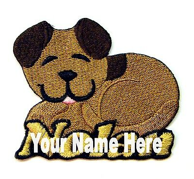 Iron-on Puppy Dog Patch With Name Personalized Free