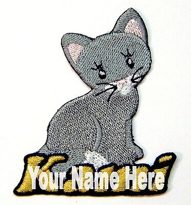 Iron-on Kitty Cat Patch With Name Personalized Free