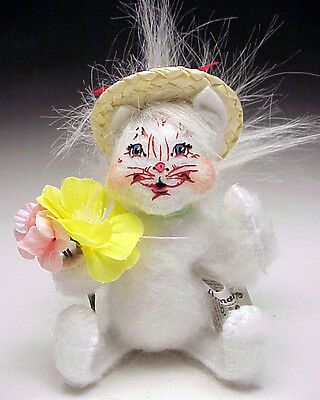Annalee Easter 2013 Mobility Doll 4 inch Spring Flowers Kitty Small Smile NEW