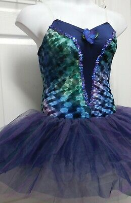 NWT NAVY TIE-DYE VELVET Short  TUTU BALLET DANCE CHILD LADIES PLUS SZS 5 tier sk