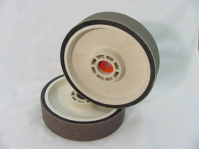 "BUTW 280 grit 8"" x 2"" wide diamond grinding soft flex wheel  R"