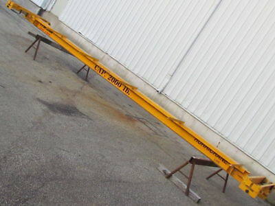 Brehob Single Girder Underhung Chain fall Hoist Bridge Crane 28' Span 1-Ton Cap.