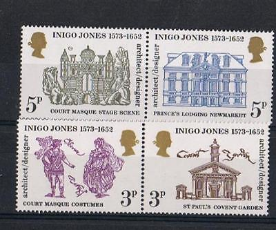 GB 1973 Inigo Jones (Architect) Set Mint NH