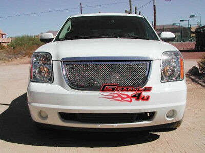 Fits 2007-2014 GMC Yukon Stainless Steel Mesh Grille Grill Insert