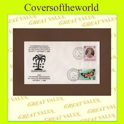 Tuvalu 1980 double date commemorative cover