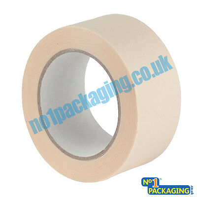 6 Long Rolls Quality multi-purpose low tack Masking Tape 48mm X 50m  (2 inch)