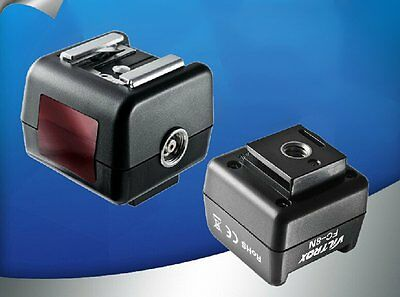 FC-8N Flash Hot Shoe Wireless Control Optical Slave Trigger with PC Sync Socket