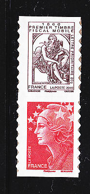 FRANCE AUTOADHESIF N°  507 ** MNH Paire P507 V1, Timbre fiscal Cabasson, TB