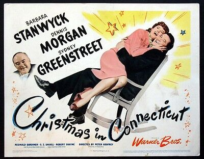 Christmas In Connecticut Barbara Stanwyck 1945 Title Card