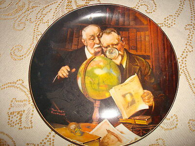 PLATE - NEWFOUND WORLDS By Normal Rockwell 1989