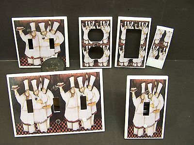 Fat Chefs Design #15  Shades Of Brown    Light Switch Cover Plate Or Outlet