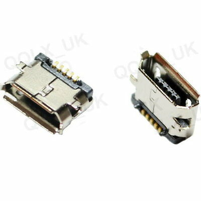 2Pcs Micro USB B Female 5Pin SMT Socket Connector - UK SELLER - #125