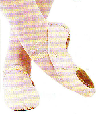 New/box Mainstreet Ballet Shoes Leather Classic Pink Split Sole Ladies Dance