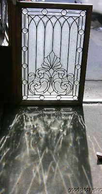 1890's Chicago Victorian Beveled & Jeweled Glass Window