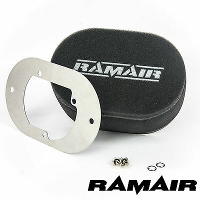 RAMAIR Carb Air Filter With Baseplate Pierburg 2B2/2B4/2B5 100mm Bolt On