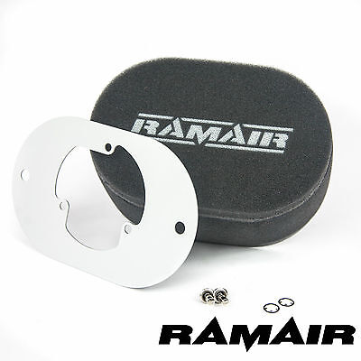 RAMAIR Carb Air Filters With Baseplate Pierburg 2E2/2E3/2E-E 40mm Bolt On