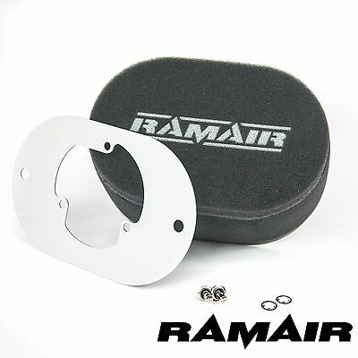 RAMAIR Carb Air Filters With Baseplate Pierburg 2E2/2E3/2E-E 65mm Bolt On