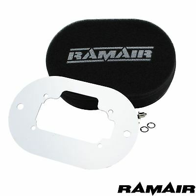 RAMAIR Carb Air Filters With Baseplate Weber 32/36 DGV 25mm Bolt On