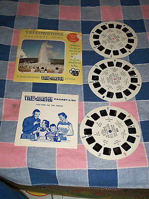 View-Master Sawyer's Yellowstone National Park  Three Reels  Sleeve (No Booklet)