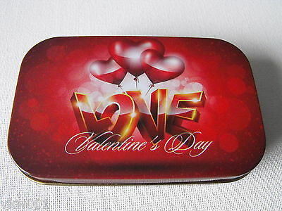 "1 oz HINGED TIN ""LOVE"" VALENTINES DAY"