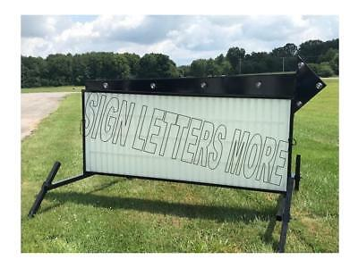 "Model A-8 Flashing Arrow Outdoor Portable Lighted Business Sign W/letters 40""x8'"