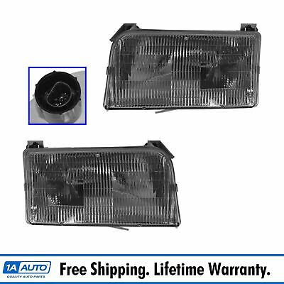 Headlights Headlamps Left & Right Pair Set NEW for Ford F-Series Pickup Truck