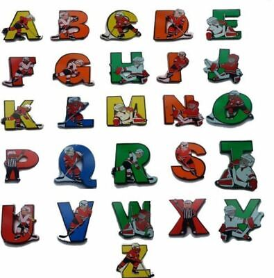 Vinsani Wooden Hockey Upper Case Alphabet Letters Personalised Wall Door Name