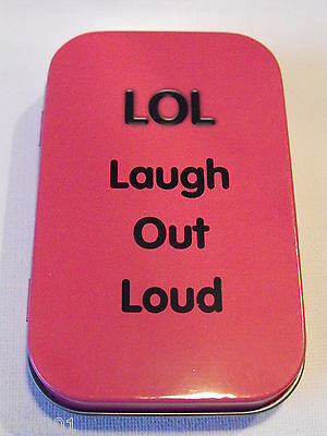 "1 oz HINGED TIN PINK ""LOL"""