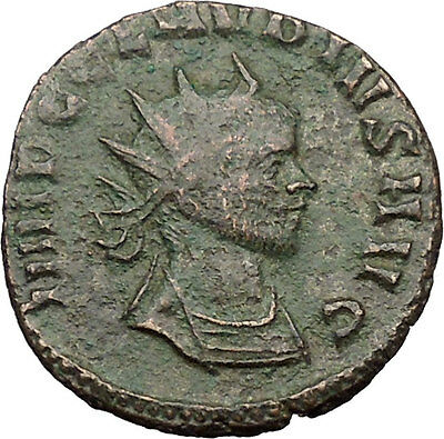Claudius II Ancient Roman Coin Magic wand of forethought Goddess   i31460
