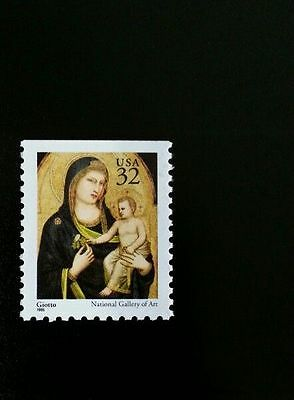 1995 32c Giotto Madonna & Child, National Gallery Arts Scott 3003a Mint F/VF NH