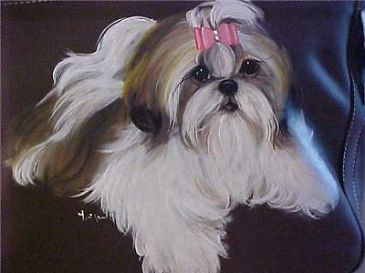 Shih Tzu Handpainted Handbag Best Shih Tzus On Ebay!