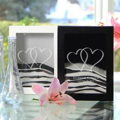 Wedding Sand Ceremony Always Quote or Two Hearts or Modern Love White or Black