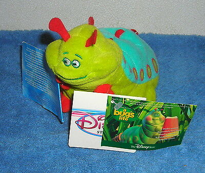 """Disney Store Exclusive A Bug's Life Heimlich 9"""" Plush Bean Bag Toy"""