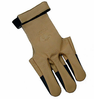 Bearpaw Shooting Draw Hand Glove Recurve Bow Leather Archery Fingers Stylish Tab