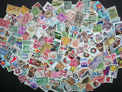 USED lot of 60 mixed all different US stamps off paper - nice starter set
