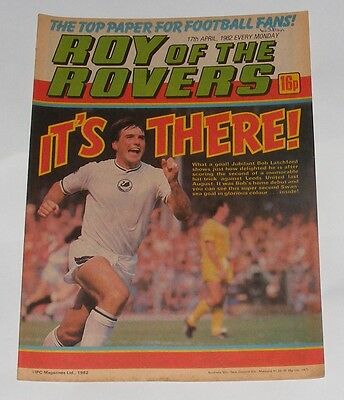 Roy Of The Rovers Comic 17Th April 1982 Martin Dobson Burnley