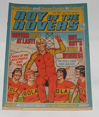Roy Of The Rovers Comic 10Th April 1982 Paul Miller Of Tottenham Hotspur