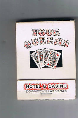 Four Queens Hotel Casino Queen of Hearts Vintage Matchbook Las Vegas Nevada