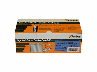 Paslode 395196 18G x 50mm ELGV Brad Fuel Pack 2000 per box and 2 fuel cells