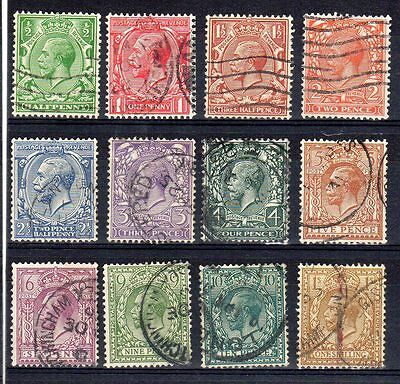 GV - 1924. SG418-SG429 Block Cypher set x 12 values. Superb fine used.