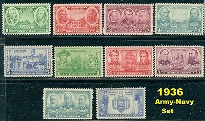 US 1936 army navy set complete MNH, 785-794