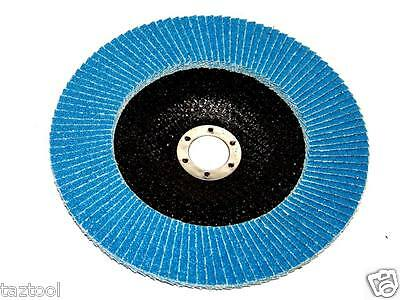 "10PC 4-1/2"" x 7/8"" 40 GRIT BLUE ZIRCONIA FLAP DISC SANDING GRINDING WHEEL SET"
