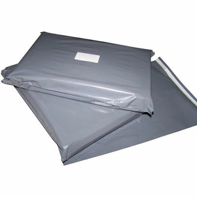 100pcs of 6 x 9 Inch Grey Mailing Postage Poly Plastic Bags 165 x 230mm