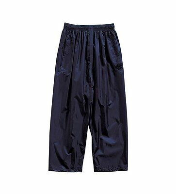 Regatta Navy Children Kids Waterproof Rain School Over Trousers