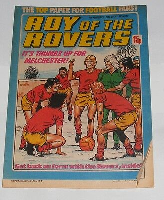 Roy Of The Rovers Comic 7Th February 1981 Tony Godden Of West Bromwich Albion