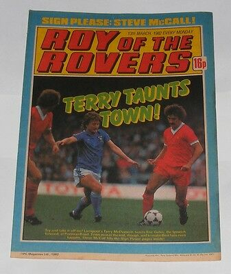 ROY OF THE ROVERS COMIC 13TH MARCH 1982 STEVE McCALL OF IPSWICH TOWN