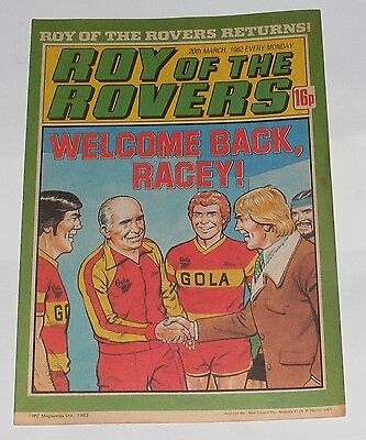 Roy Of The Rovers Comic 20Th March 1982 David Hodgson Of Middlesbrough