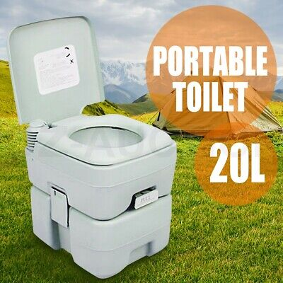 20L Camping Potty Portable Toilet Square Outdoor Travel Caravan 50 Flushes
