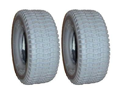Two New 9 / 3.50 - 4 Kenda Gray 4 Ply Turf Tires & Tubes fit Pride Power Scooter